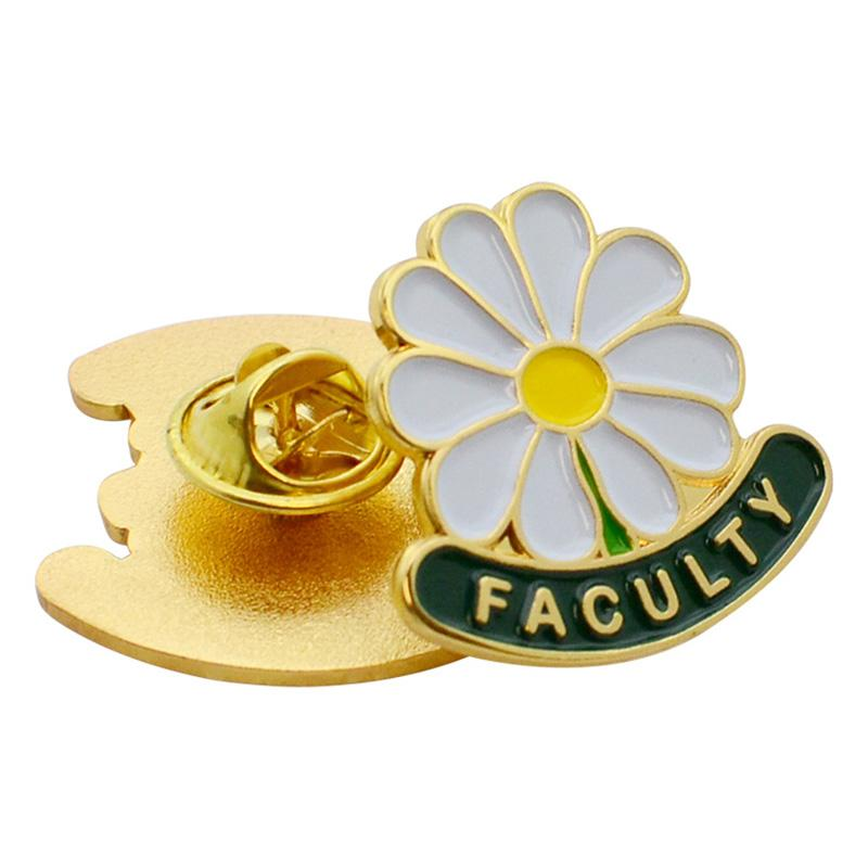 Pin Factory Supplier Wholesale Metal Cute Flower Brooch Pin