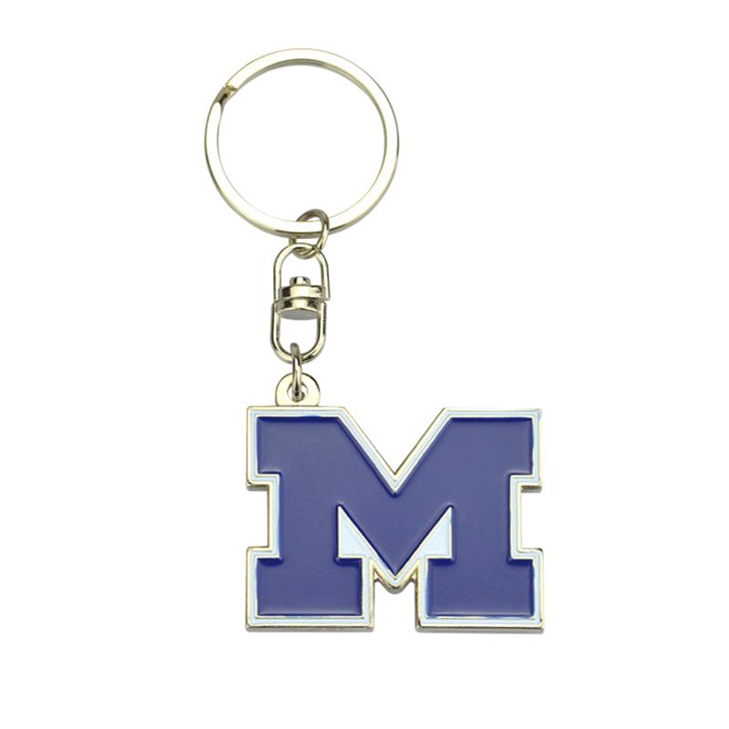 Custom Design Your Own Letter Metal Enamel London Keyrings Wholesale