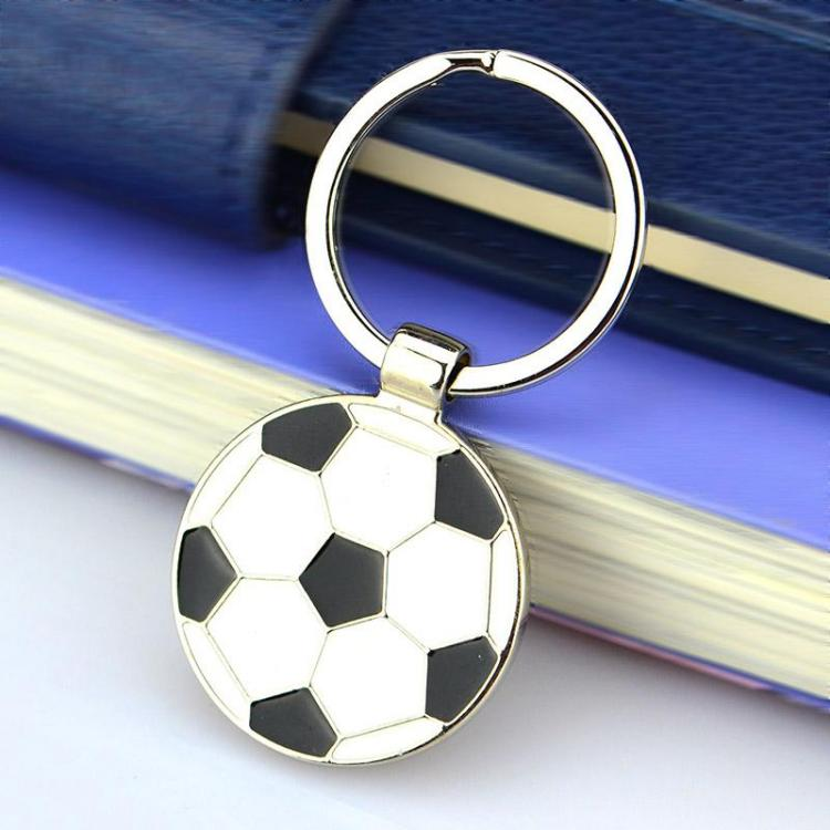 metal enamel football keychain