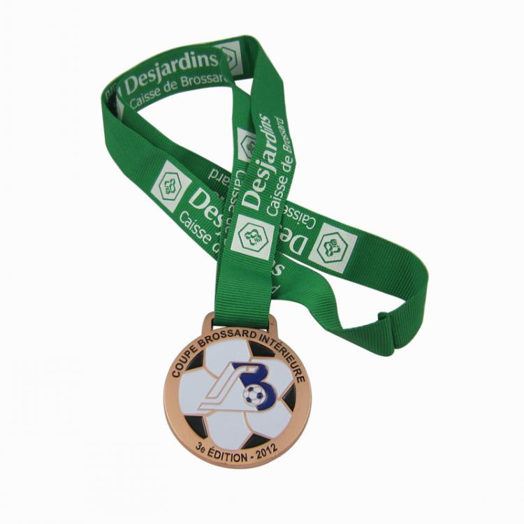metal enamel football medal