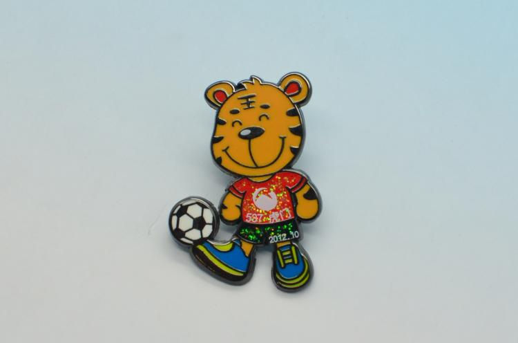 metal enamel football pin