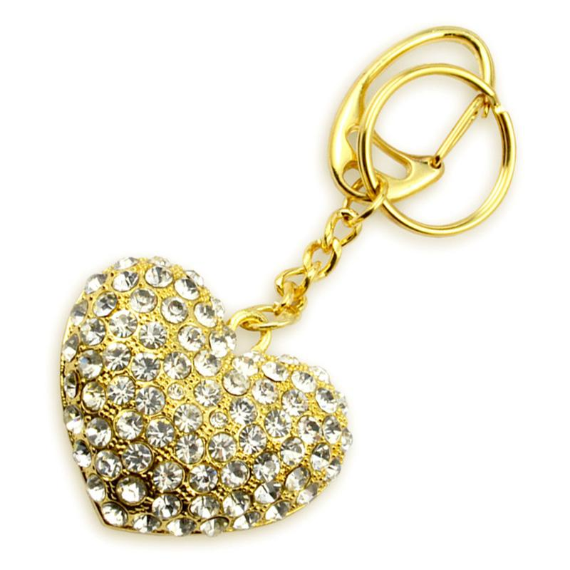 rhinestone jewelry love key chain