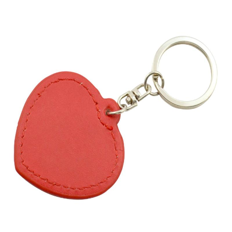 Car Logo Keychain Heart Leather
