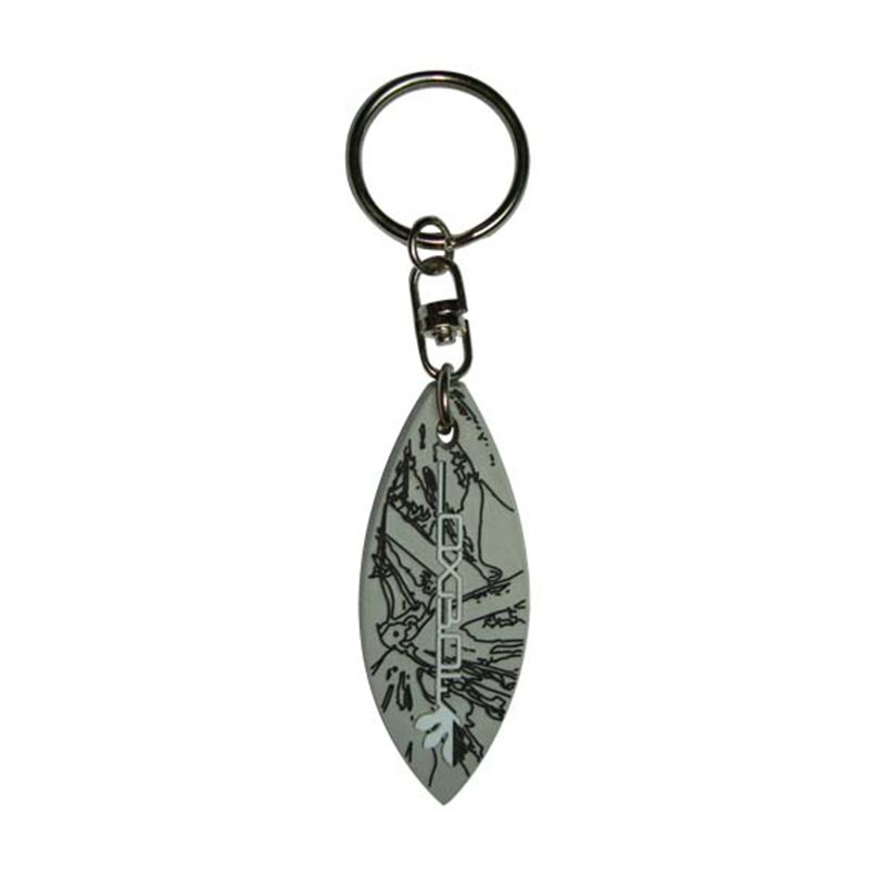 key chain metal leaf keychain