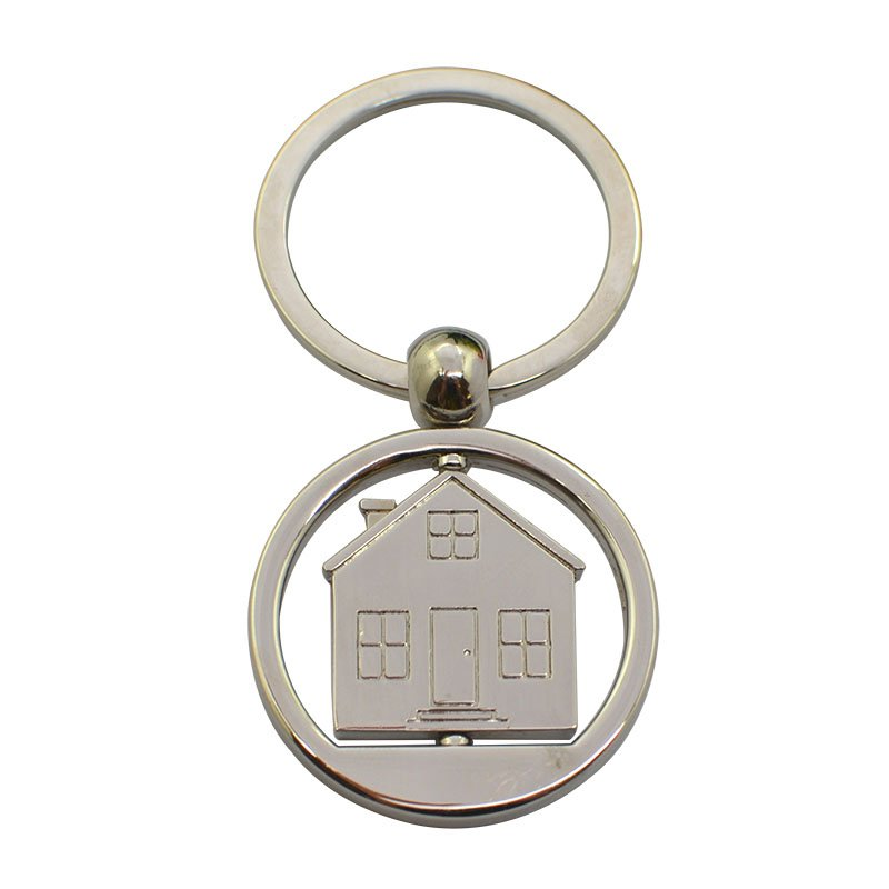 House Key Holder Custom Spinner Metal Keychain