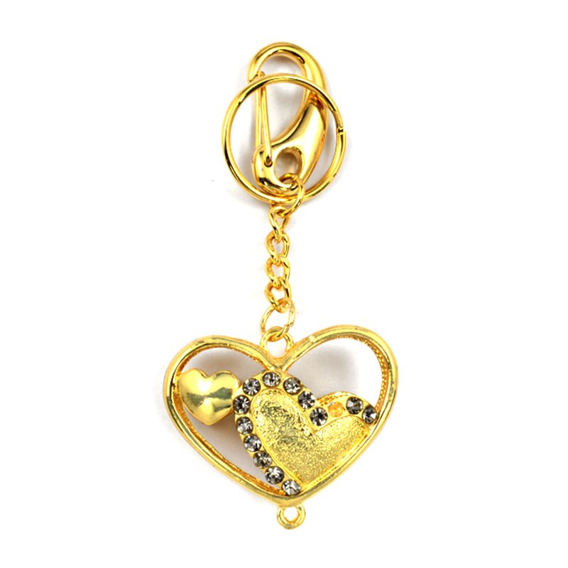 Diamond Keychain Custom Heart Shape Key Chain