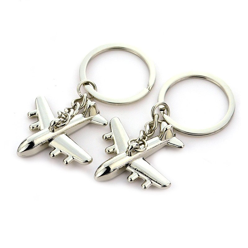 Aircraft Keychain Metal 3D Airplane Key Chains