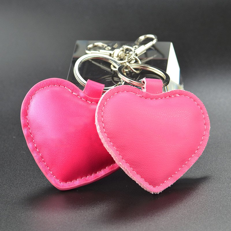 Lady Keychain Pu Leather Heart Key Chain