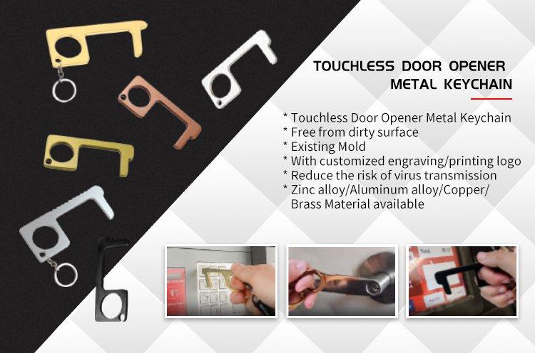 Door Opener Keyring Metal Contactless Keychain