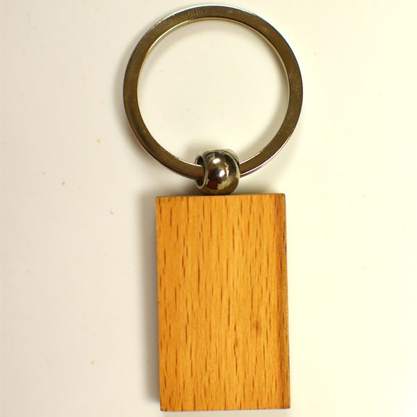 blank customized logo keychain wooden