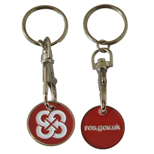 Shopping trolley coin with customized logo