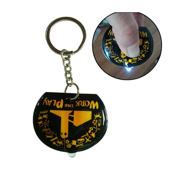Wholesale cheap glow in the dark pvc led keychain