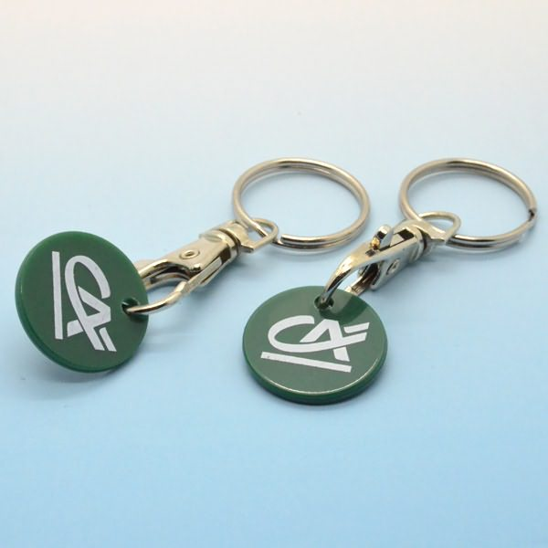 Artigifts high quality metal trolley coin key ring