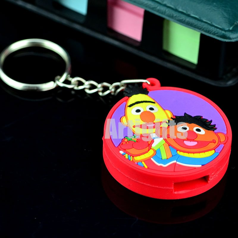 Wholesale fashion 3d pvc rubber keychain