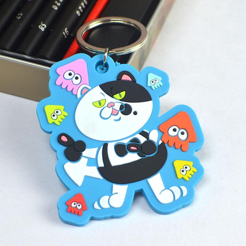 Wholesale cheap custom large rubber key rings