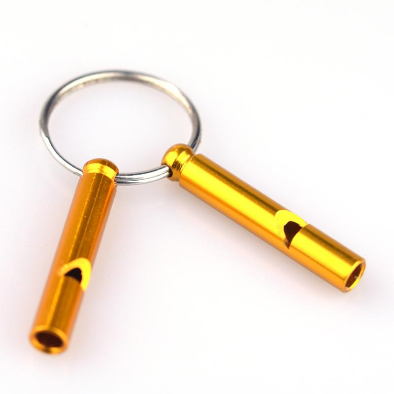 Wholesale cheap aluminum whistle keychain