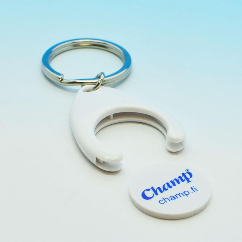 Promotion metal souvenir coin holder keychain
