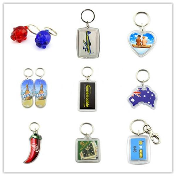 China factory made bottle logo acrylic keychains