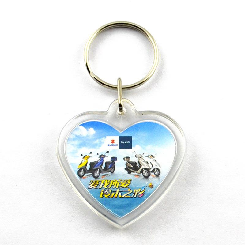 Heart shape acrylic keychains wholesale