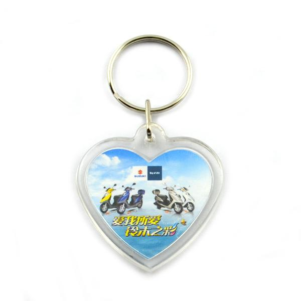 Cheap custom made acrylic keychains for tourist souvenir
