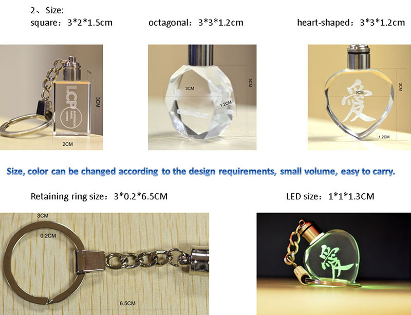 promotion crystal keychain