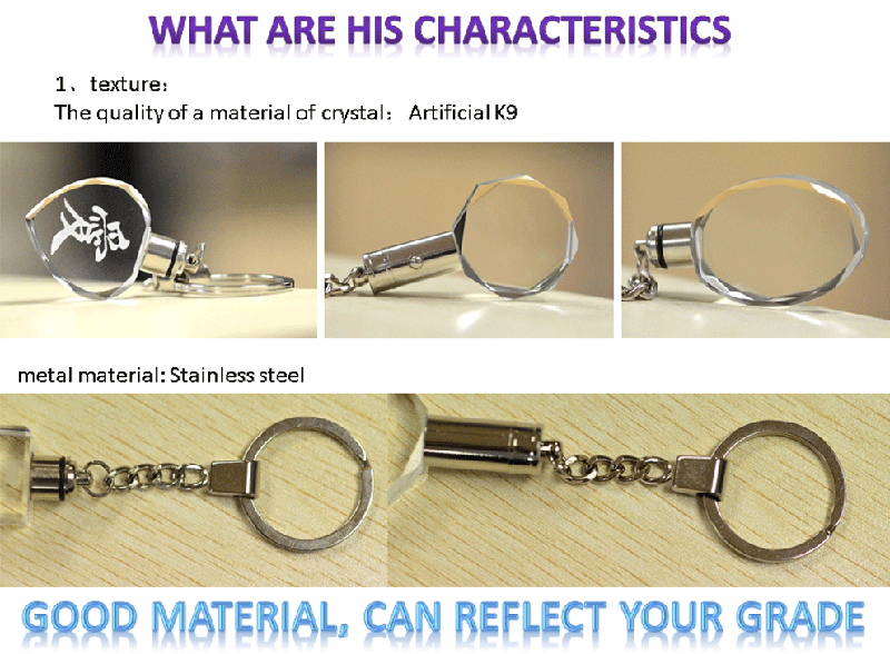 transparent crystal keychain