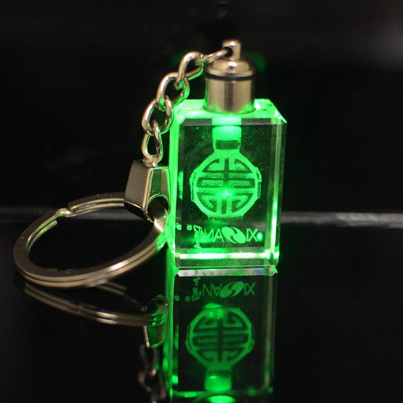 Wholesale laser transparent led crystal keychain