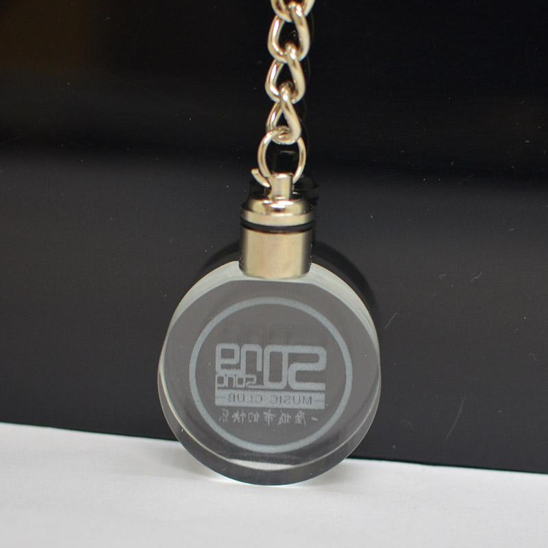 Newest promotional products crystal key chain
