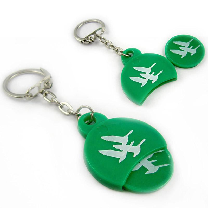 Promotional cheap custom logo key chains