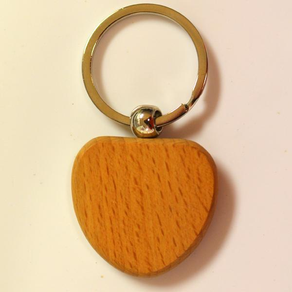 Hottest cheap wooden key ring for promotion