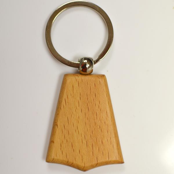 Manufactory production customized cheap wood keychain
