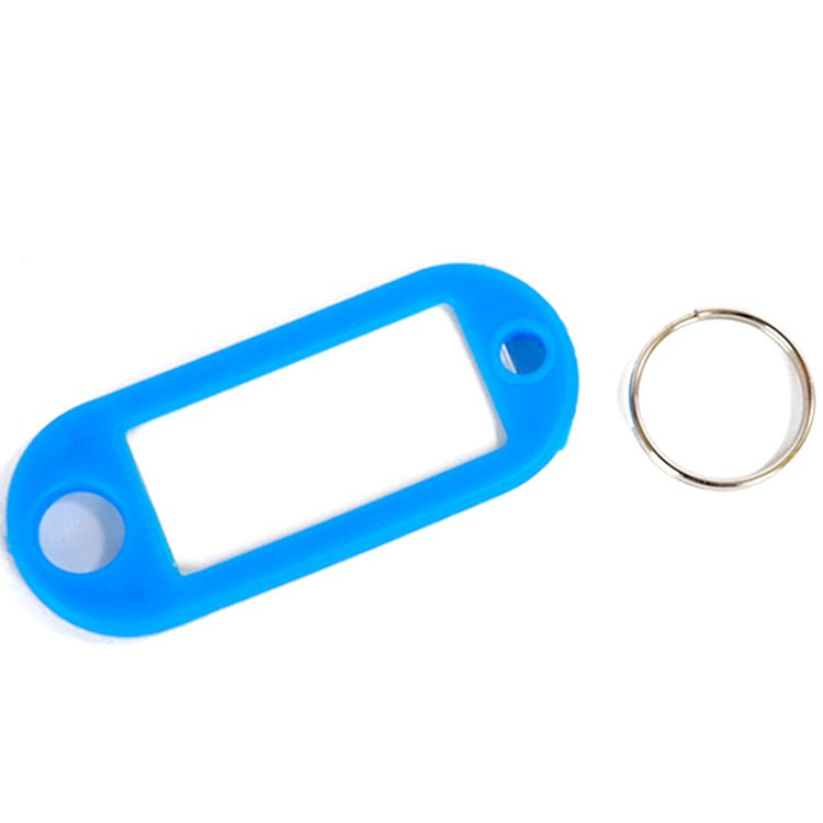 Factory Direct Sale Cheap Customized Blank Plastic Keyrings