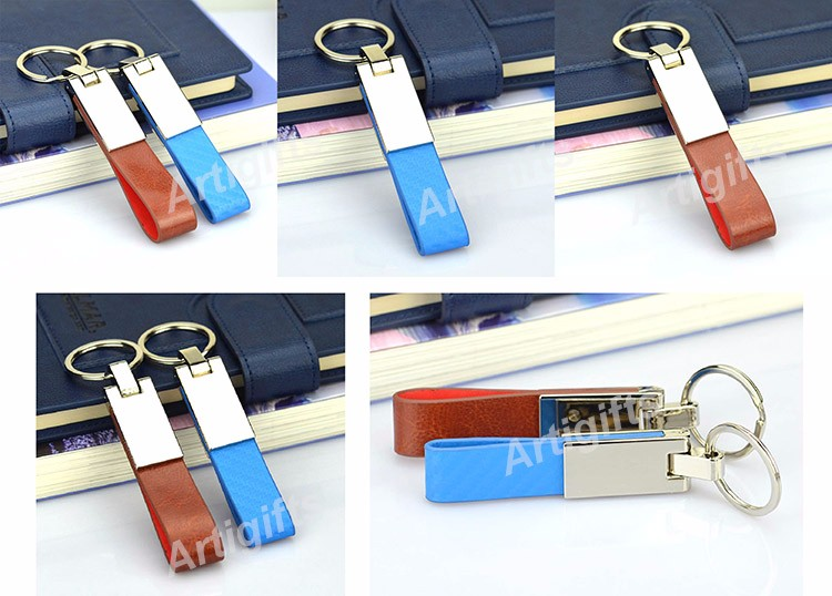 Metal Leather Cheap Keychain Favors