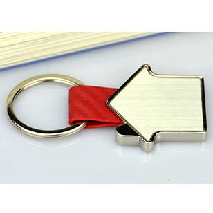 Customized Bulk Metal Leather Cheap Keychain Favors