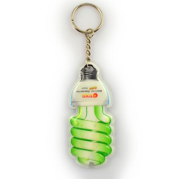 Custom made colorful keychain with light
