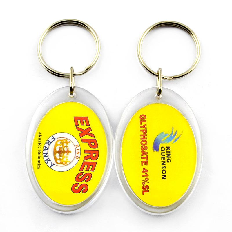Promotion Cheap Personalised Keychains Engraved Photo Keyrings