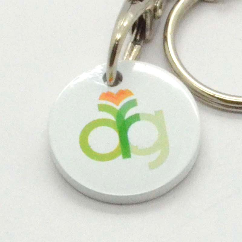 Wholesale High Quality Metal Trolley Coin Key Ring Clip