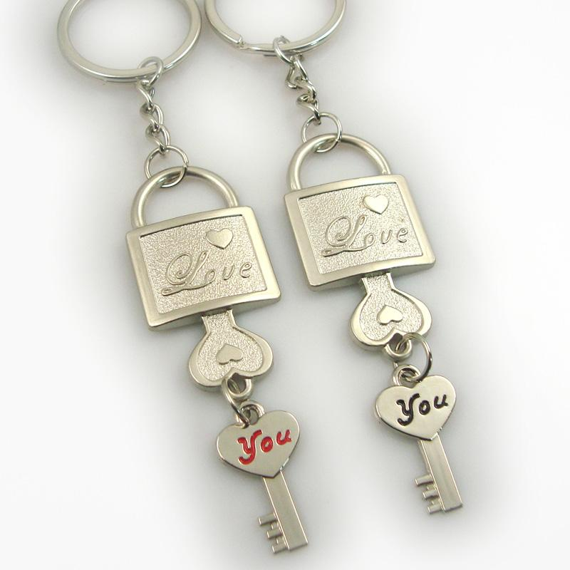 Wholesale Customized Cheap Metal Couple Keychain Online