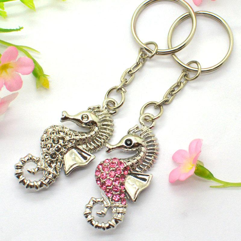 Wholesale 3D Plated Jewelry Unicorn Keychain Bulk