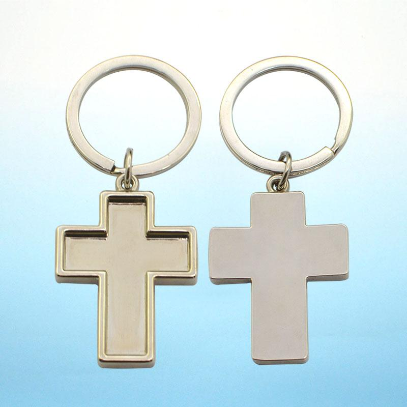 Key Chain Maker Custom Metal Cross Keychain Bulk