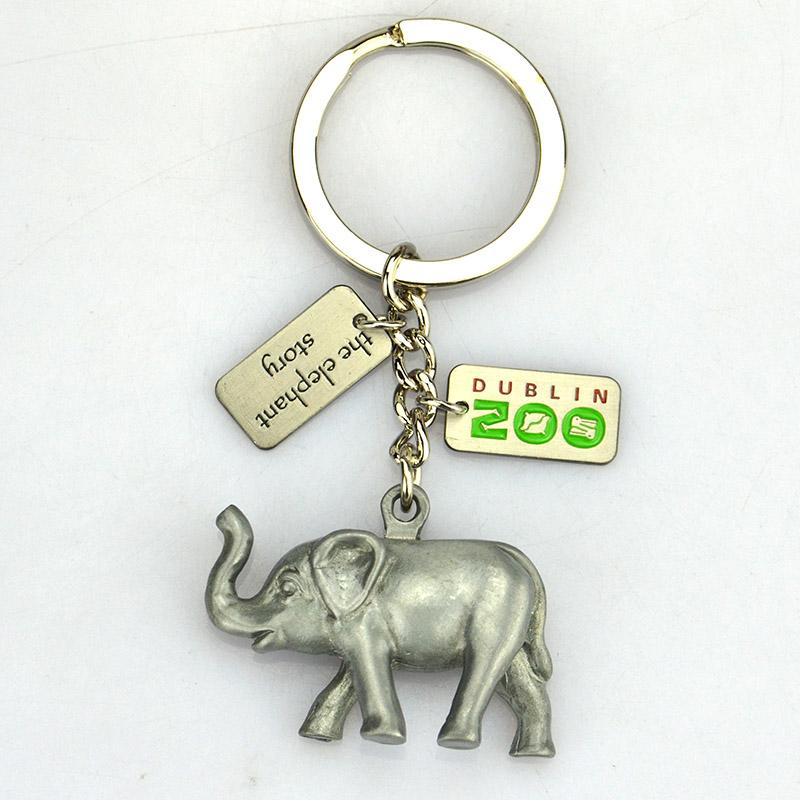 Buy High Quality Metal 3D Elephant Keychain Bulk