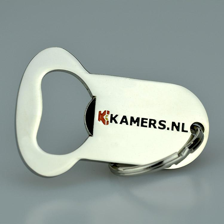 Custom High Quality Print Metal Bottle Opener Keyring
