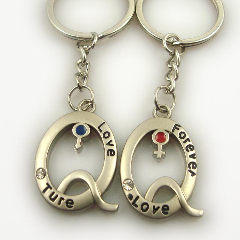 Cheap Wholesale Personalized Keychains Love Keychains For Couples