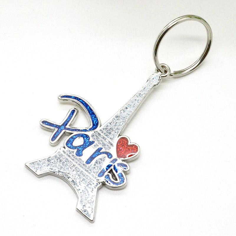 Metal Crafts Factory Wholesale Eiffel Tower Keychain