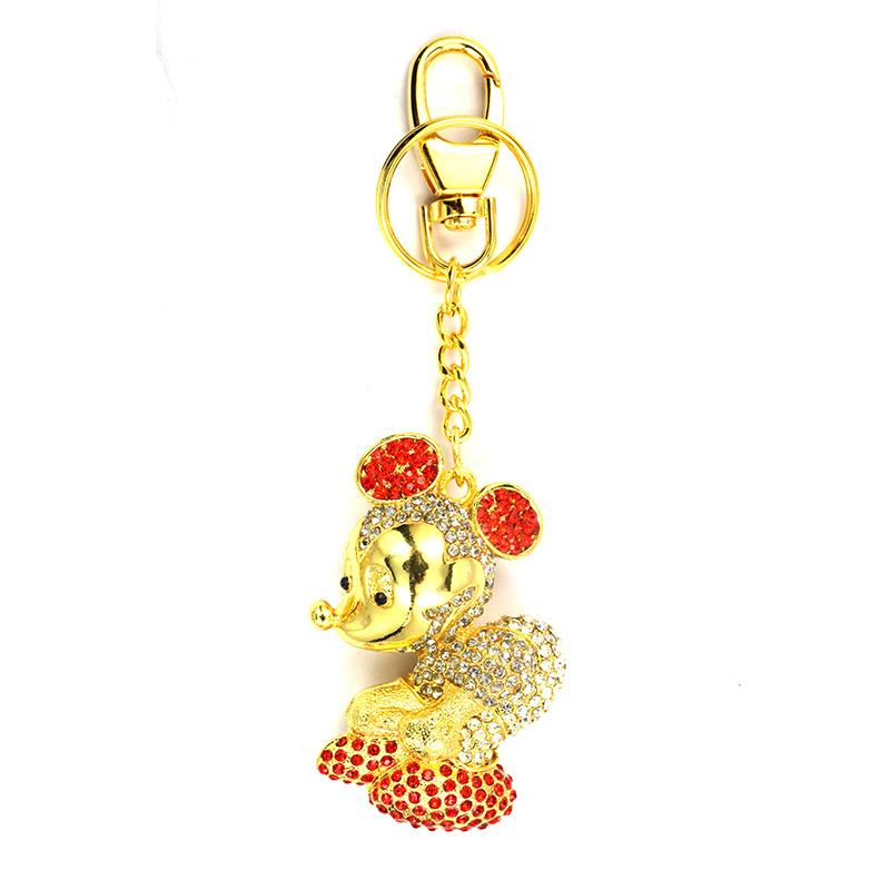 Wholesale Metal Mickey Mouse Keychain With Diamond