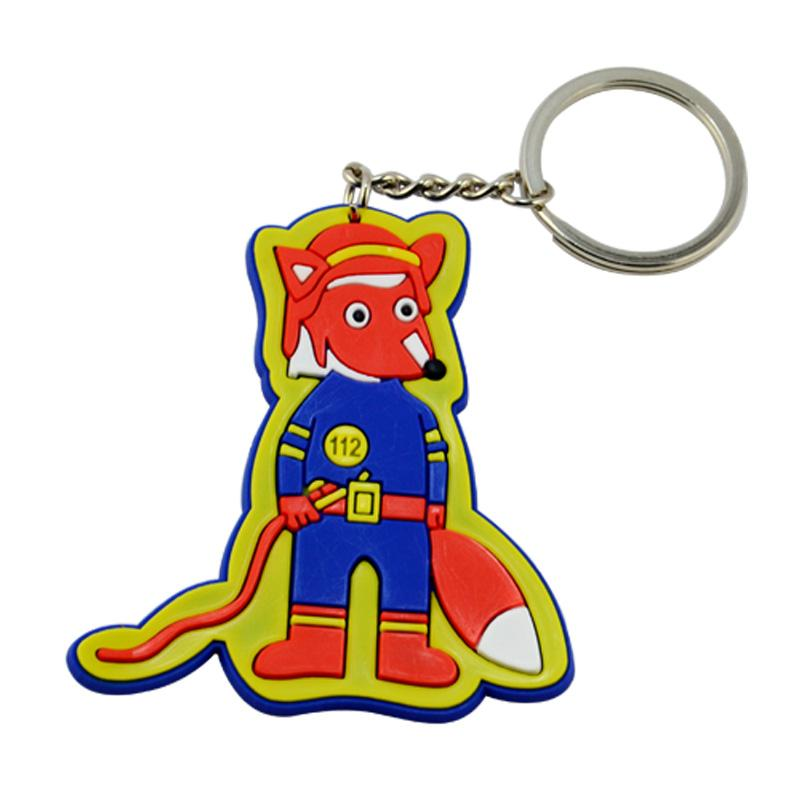 Factory Bulk Custom Hawaii Soft Pvc Rubber Cartoon Keychain