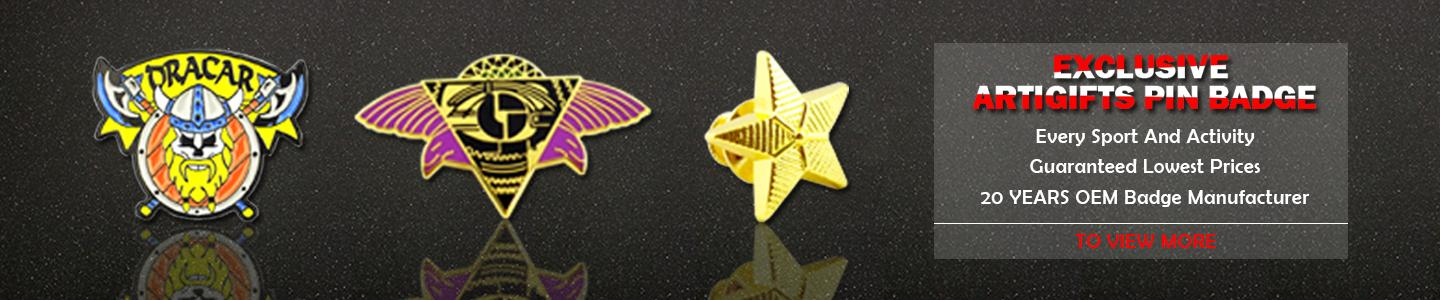 Wholesale Custom Logo Musical CMYK Printing Led Lapel Pin Badge - Pin Badge