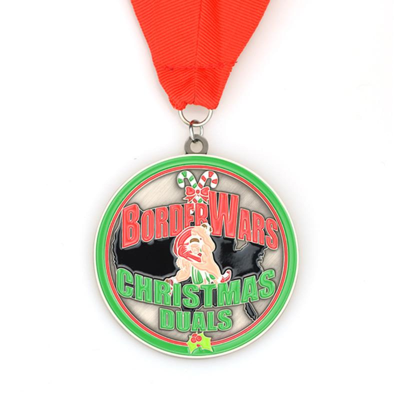 Wholesale Custom Cheap Bulk Religious Medal With Ribbon