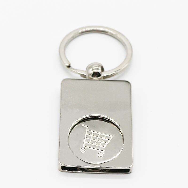Promotional Custom Logo Blank Metal Sublimation Keychain