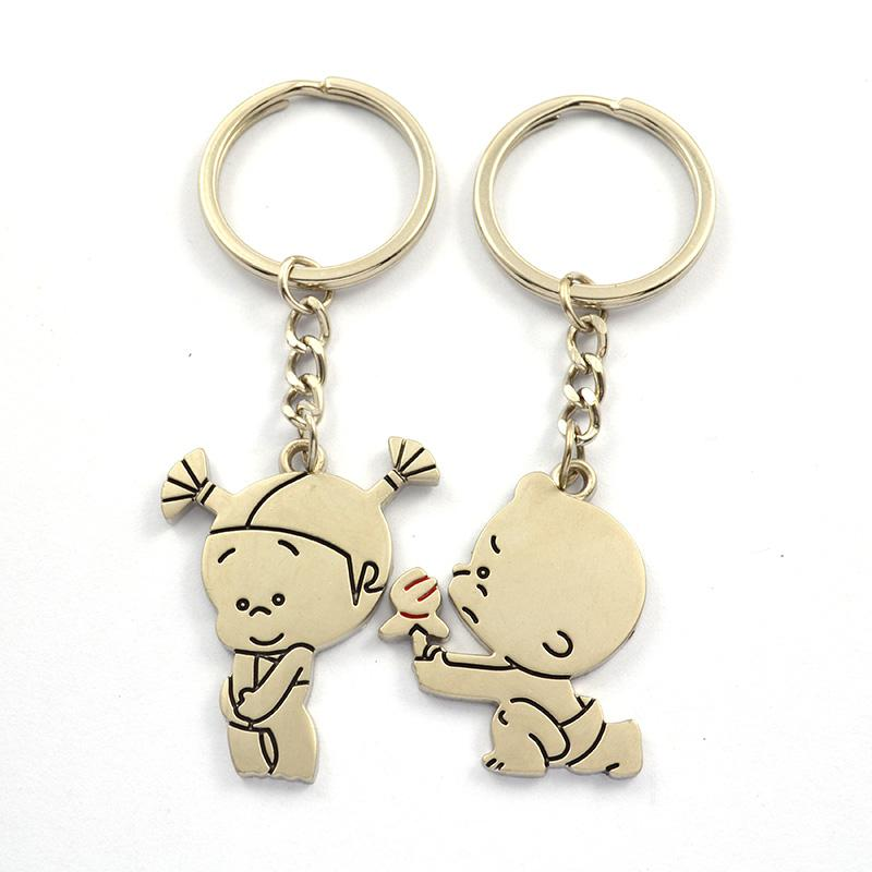 Couple Keychain Factory Supplier Custom Sublimation Blank Keyring